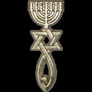 Reversspeld / broche met Messiaans Zegel in goudkleur