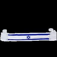 Israel vlag sjaal als (raam)hanger met zuignap voor auto of huis
