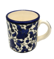 Mok / Koffiekopje (senseo maat) van Armeens aardewerk in blauw/wit