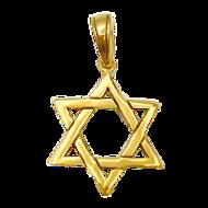 Davidster hangertje van zilver verguld met geelgoud in gevlochten ontwerp van Marina