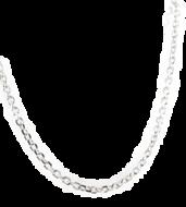 Collier / Ketting, zilveren ketting met Anker schakeltjes van 1,3 mm leverbaar in verschillende lengtes