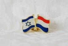Reversspeld met Israëlische en de Nederlandse vlag