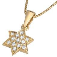 Davidster hangertje, schitterend 18K gouden Davidster hangertje bezet met diamantjes uit de Rafael Jewelry collectie