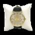 Mooi goudkleurig Horloge met Hebreeuwse cijfertekens en de Hebreeuwse tekst Shema Yisrael... (Hoor Israel...), zowel geschikt v